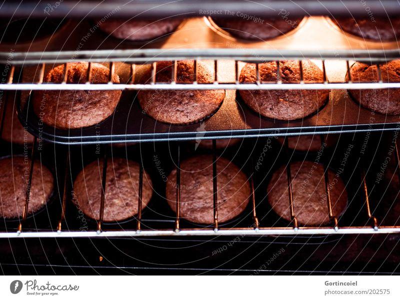 E Lebensmittel Teigwaren Backwaren Kuchen Dessert Süßwaren Schokolade Ernährung frisch heiß lecker süß braun Muffin Foodfotografie Farbfoto Innenaufnahme