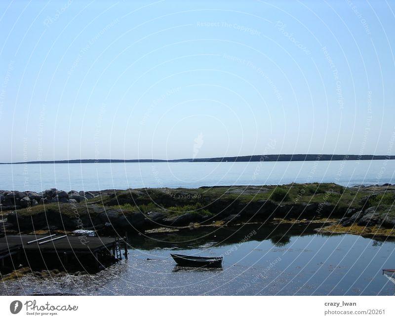 Bootchen Wasser Landschaft Wasserfahrzeug Bucht Kanada