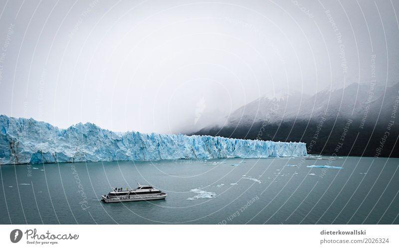 Perito Moreno II Natur Ferien & Urlaub & Reisen Reisefotografie Umwelt kalt gehen Nebel Eis Klima Frost Sehenswürdigkeit Gletscher Klimawandel schlechtes Wetter