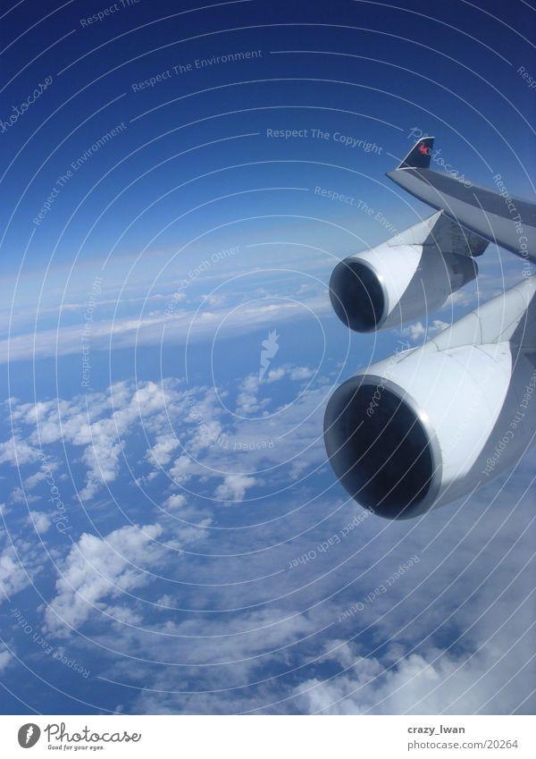 Frankfurt-Toronto Flugzeug Triebwerke Himmel Elektrisches Gerät Technik & Technologie 747 12km airplane engine turbines wing Passagierflugzeug mountains sky