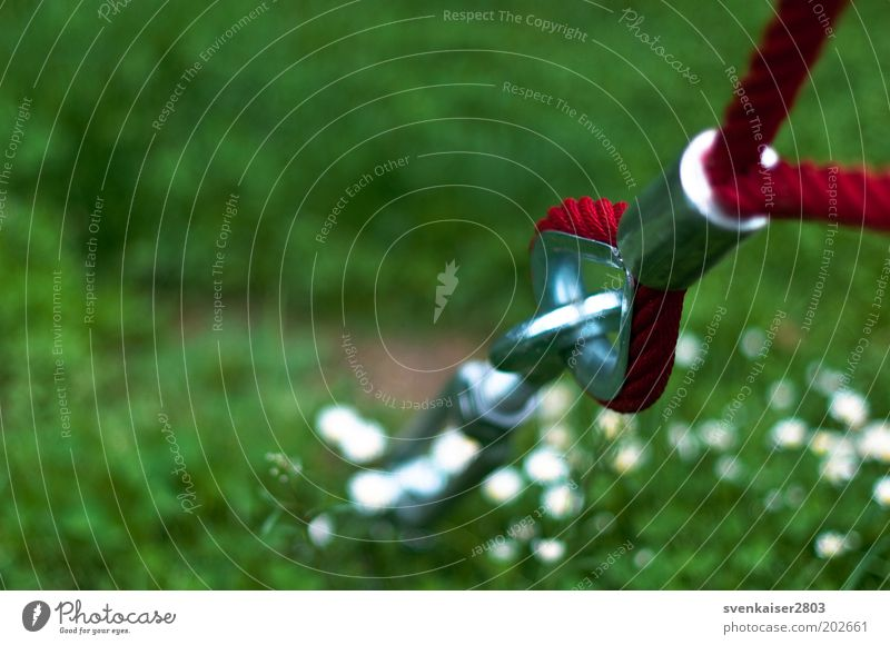 roter Faden grün Sommer Wiese Metall Park Freizeit & Hobby Sicherheit Metallwaren fest silber Schraube Befestigung Ballsport Unschärfe Sportstätten