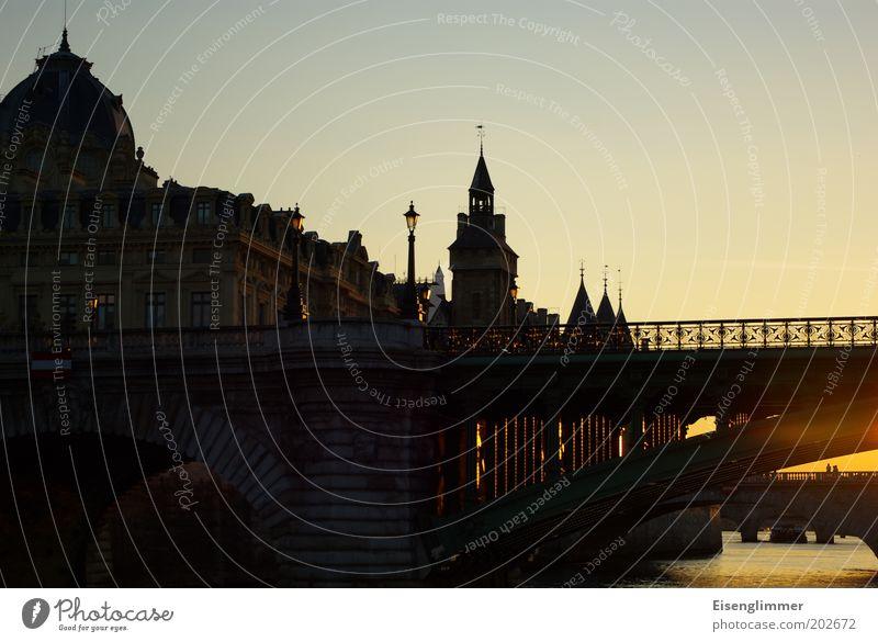 Paris Stadt Ferien & Urlaub & Reisen Sommer Architektur Brücke Fluss Schönes Wetter Paris Frankreich Stadtzentrum Hauptstadt Sehenswürdigkeit Sightseeing Altstadt Seine