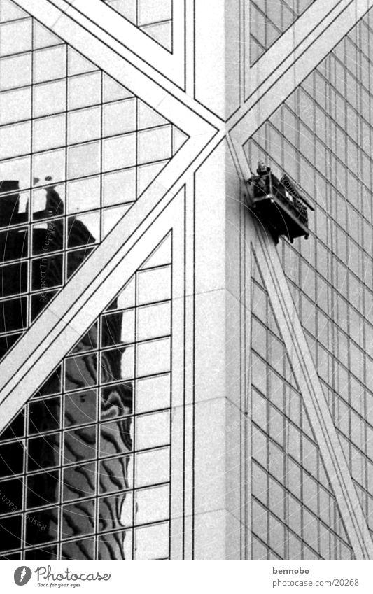 Bank of China Architektur Hongkong Gebäudereiniger Bank of China Tower