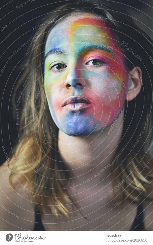 kunst im gesicht Haare & Frisuren Gesicht Schminke Kind Mädchen Junge Frau Jugendliche Auge Nase Mund Ohr 13-18 Jahre Kunst Farbe mehrfarbig Körpermalerei