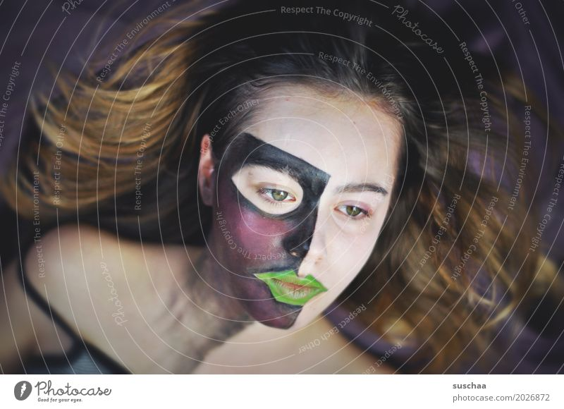 Dank Photocase das hier: mein lieblingsmodel Kind Jugendliche Junge Frau Mädchen Gesicht Auge Kunst Haare & Frisuren 13-18 Jahre Mund Nase Schminke bemalt