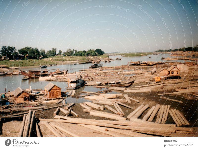 Myanmar/Burma Wasserfahrzeug Fluss Asien