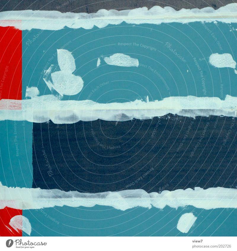 P U N K alt blau rot Linie dreckig planen Design verrückt Industrie ästhetisch einfach Baustelle rein Streifen Zeichen Handwerk