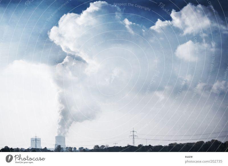 Dicke Luft Wolken dreckig Wetter Umwelt Industrie Energiewirtschaft Zukunft Industriefotografie Fabrik Wandel & Veränderung Klima Rauch Abgas Wirtschaft