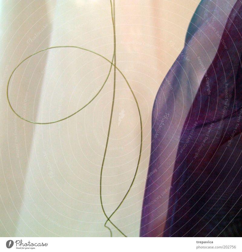 Grüne Linie Erholung Innenarchitektur Dekoration & Verzierung Kunst Musik Ornament ästhetisch dünn einfach elegant schön weich grün violett weiß Zufriedenheit