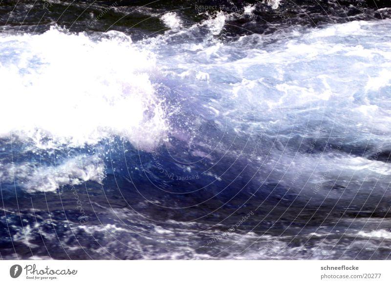 Schäumendes Wasser Wasser Sommer Wellen Erfrischung Schaum