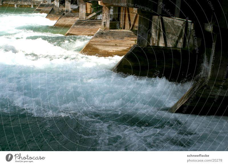 Schleuse Holz Elektrisches Gerät Technik & Technologie Wasser schäumend Kraft