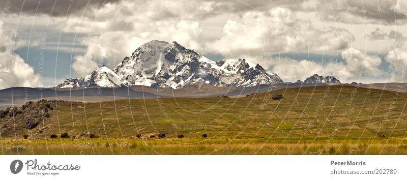 Natur Himmel Ferien & Urlaub & Reisen Wolken Gras Berge u. Gebirge Landschaft Luft Wind Wetter Erde Gipfel Unwetter Südamerika Bolivien Anden