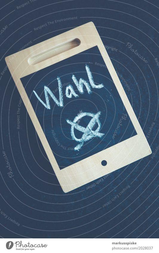 Du hast die Wahl? Freude Business Kommunizieren Telefon Internet Handy analog