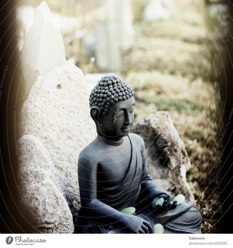 Schrebergarten-Zen Erholung Garten Glück Stein Zufriedenheit Religion & Glaube elegant ästhetisch Frieden rein Zeichen berühren Statue Meditation Skulptur