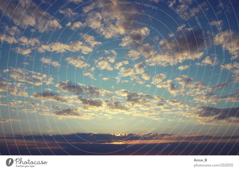 endlos. Himmel blau Himmel (Jenseits) schön Farbe Sommer Sonne Wolken ruhig Ferne Freiheit Horizont Luft Schönes Wetter Ewigkeit Unendlichkeit