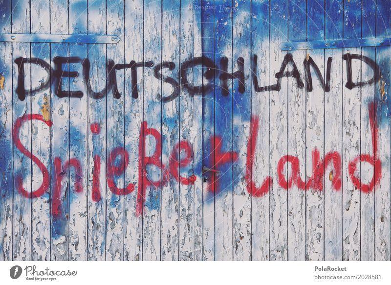 #A# Deutschland Spießerland Kunst Kunstwerk Gemälde ästhetisch Graffiti Schmiererei Tor Redewendung Parole Wahlen wählen Wahlkampf Farbfoto Gedeckte Farben