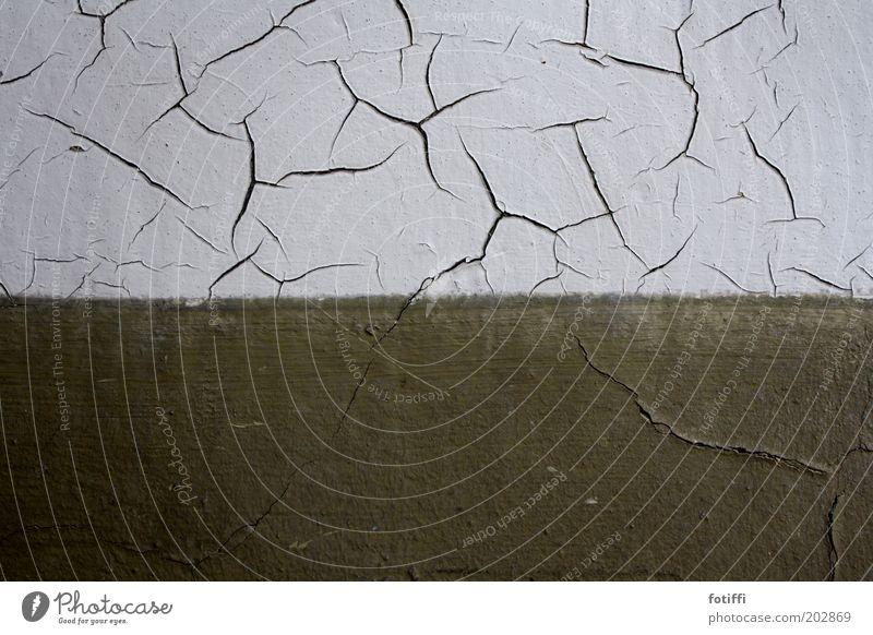 tänzer Gebäude Mauer Wand Fassade alt kaputt grün weiß einzigartig Vergänglichkeit Wandel & Veränderung Riss Haus trocken geplatzt schäbig Außenaufnahme