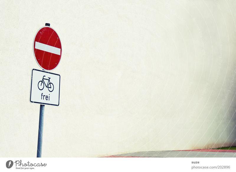 Platz da! weiß Straße Wand Wege & Pfade Mauer Schilder & Markierungen Fassade frei Zeichen Hinweisschild Verbote achtsam Verkehrsschild Straßennamenschild