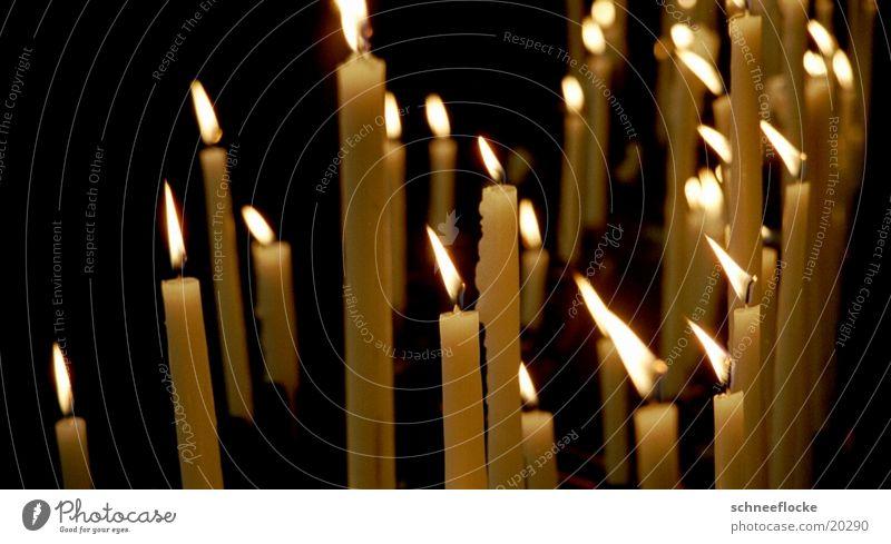 Kerzen gelb Religion & Glaube Dinge Flamme Windzug