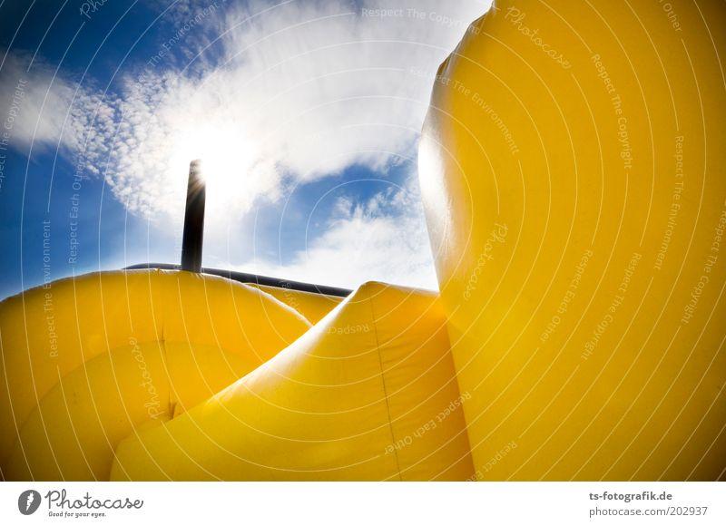 yellow fellow blau Sonne Sommer gelb Farbe Luft Kunst Feste & Feiern Kunststoff Jahrmarkt Entertainment Kinderspiel Jubiläum Kindergeburtstag Spielen