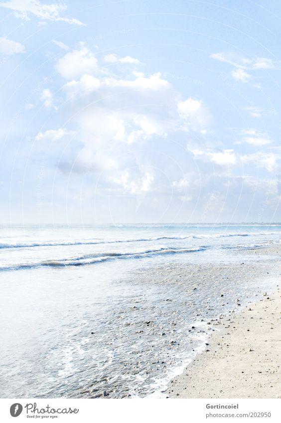 Bali Beach Natur Wasser Himmel Meer Sommer Strand Ferien & Urlaub & Reisen Wolken Wärme Sand hell Wellen Asien Schönes Wetter High Key