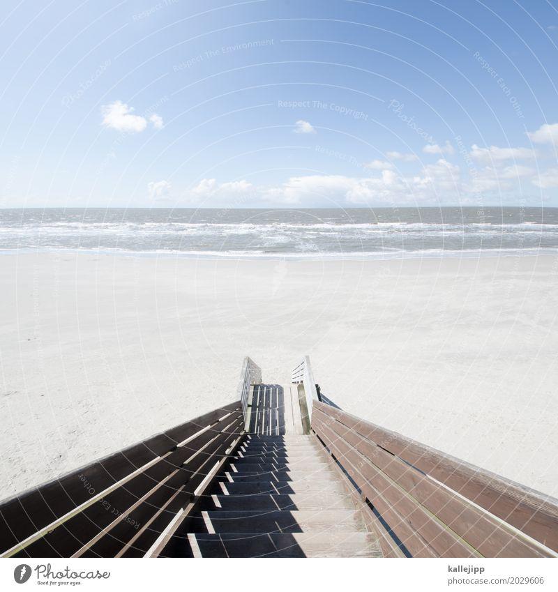 stairway to heaven Himmel Natur Ferien & Urlaub & Reisen Wasser Landschaft Meer Wolken Haus Ferne Strand Umwelt Lifestyle Küste Holz Freiheit Sand