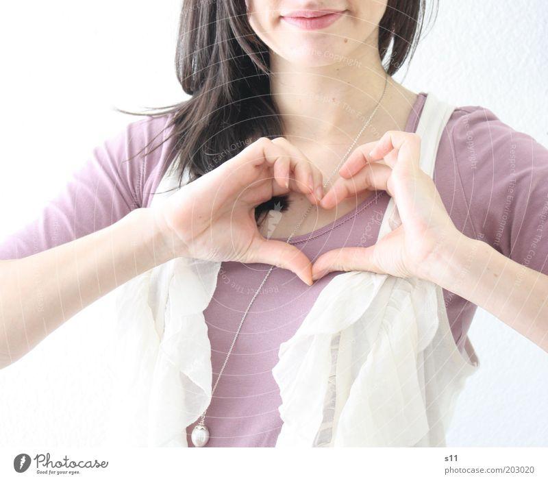 Es ist Liebe Mensch feminin Junge Frau Jugendliche Leben Haut Haare & Frisuren Mund Finger 1 18-30 Jahre Erwachsene Lächeln elegant Freundlichkeit Fröhlichkeit