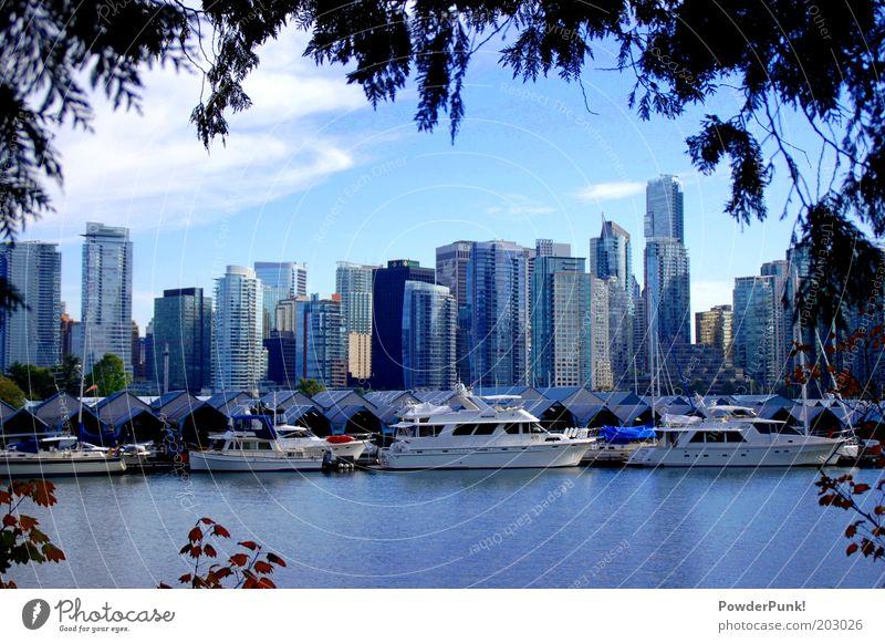 fabulous VanCity Reichtum Städtereise Umwelt Wasser Sommer Schönes Wetter Küste Bucht Vancouver Kanada Nordamerika Hafenstadt Skyline Hochhaus Architektur