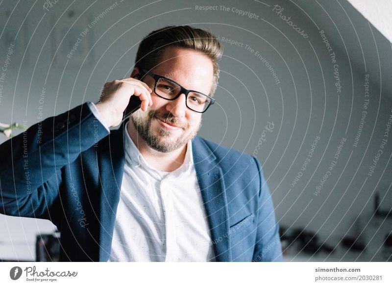 Telefonmann Mensch Freude sprechen Liebe Glück Business Freundschaft Zufriedenheit maskulin Kommunizieren Erfolg Telekommunikation Fröhlichkeit Lebensfreude