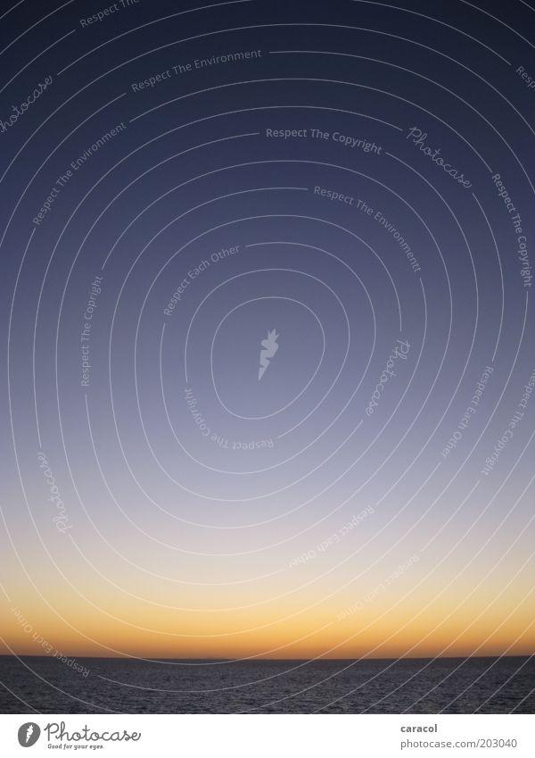 Baja Blue Skies Himmel Meer blau Ferien & Urlaub & Reisen schwarz Ferne Freiheit gold Horizont Ende einfach violett Nachthimmel Unendlichkeit Sehnsucht Idylle