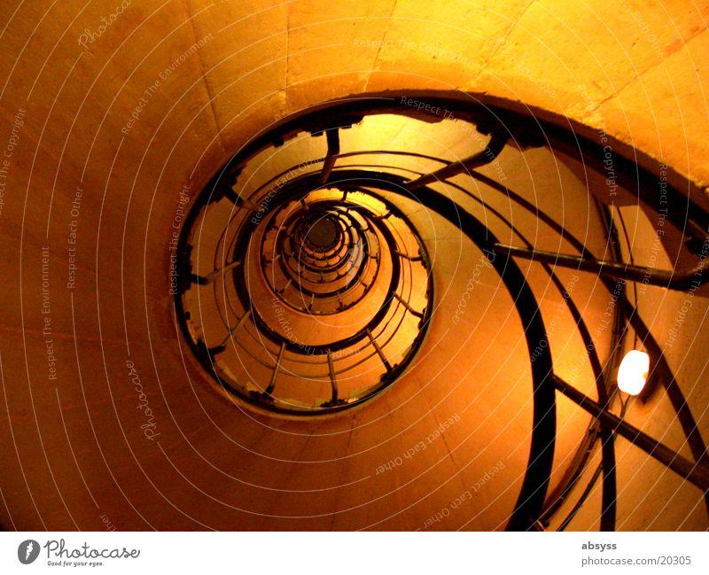 Aufgang Ferien & Urlaub & Reisen schwarz gelb Stein orange Metall Kunst Architektur Erfolg Treppe Paris Frankreich Spirale Sehenswürdigkeit