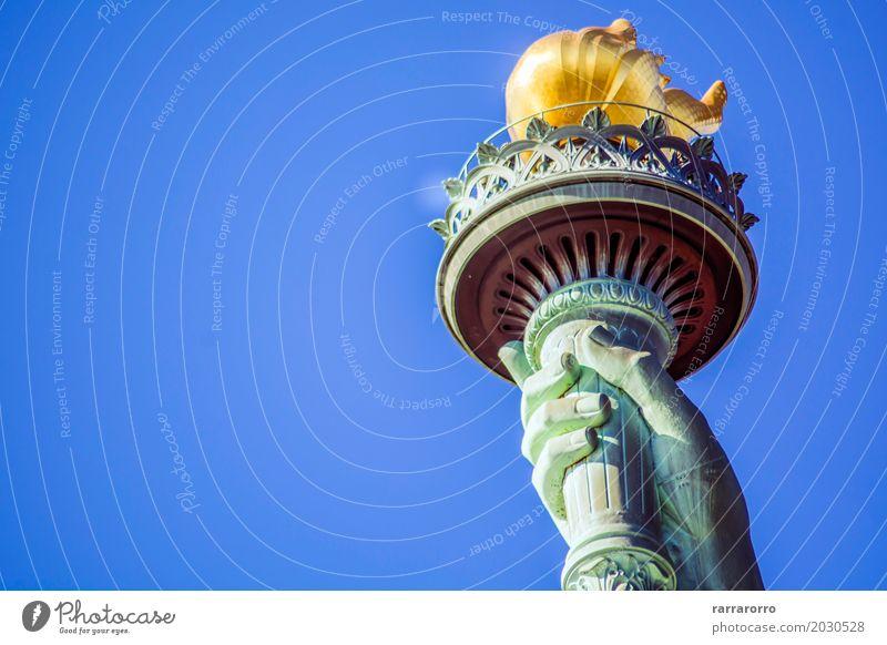 Fackel der Freiheitsstatue Himmel Ferien & Urlaub & Reisen alt grün Hand Architektur Tourismus Insel USA Kultur Platz historisch neu Symbole & Metaphern