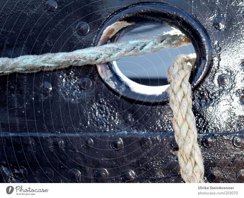 Sünn in de Seils (AST HH 5/10) Sonne schwarz Wasserfahrzeug Sicherheit Schnur Loch Schifffahrt Lack Faser Niete Reling Dinge befestigen geflochten Trosse
