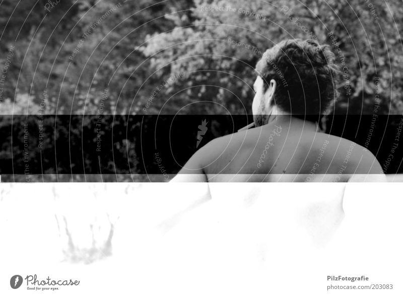 Heimweg Mensch Jugendliche Ferien & Urlaub & Reisen Sommer Erwachsene Erholung Garten Stil Zufriedenheit warten maskulin stehen Lifestyle Wandel & Veränderung Rauchen 18-30 Jahre