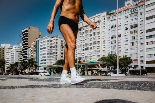 es muss immer weitergehen Gesundheit Seniorenpflege sportlich Fitness Wellness Leben Ferien & Urlaub & Reisen Sommer Sport Sport-Training Joggen maskulin Mann