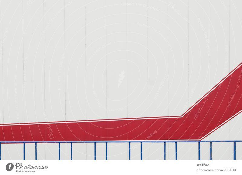 Swoosh [abstrahiert] blau rot Kunst planen Geometrie graphisch Entwurf Zeichnung Plan