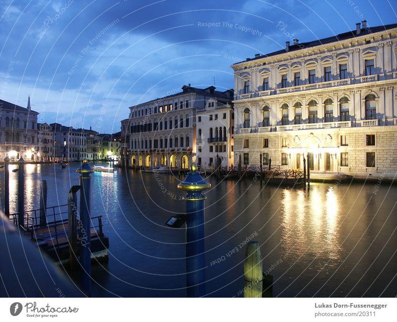 Canal Grane in der Nacht Langzeitbelichtung Europa Canal Grande bei Nacht