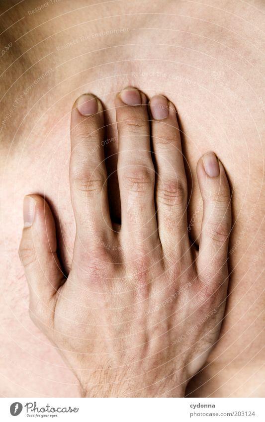 Hand Mensch Mann schön ruhig Erwachsene Leben Gefühle Kraft Haut Finger ästhetisch Gesundheitswesen berühren zart Zärtlichkeiten