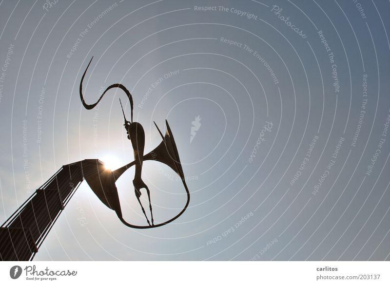 Bronze-Plastik Kunst Kunstwerk Skulptur Wolkenloser Himmel Sehenswürdigkeit glänzend ästhetisch groß einzigartig Spitze blau schwarz Kultur modern Farbfoto