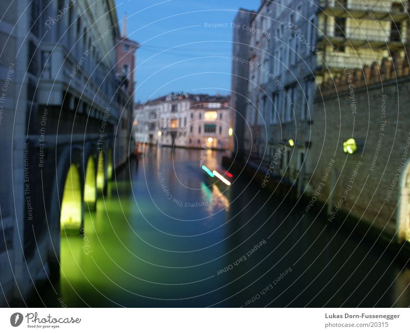 Venedig Langzeitbelichtung Europa Nacht Italien Nebenkanal