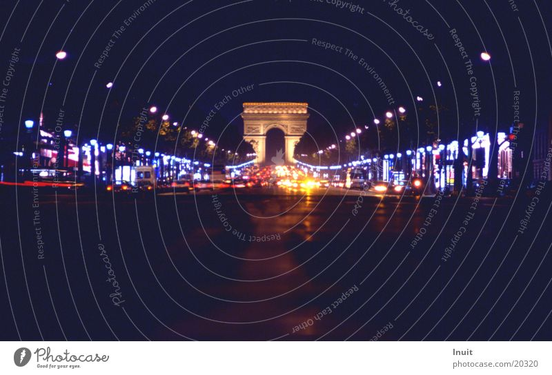 Champs Elysee Paris Frankreich Verkehr Europa Arc de Triomphe PKW