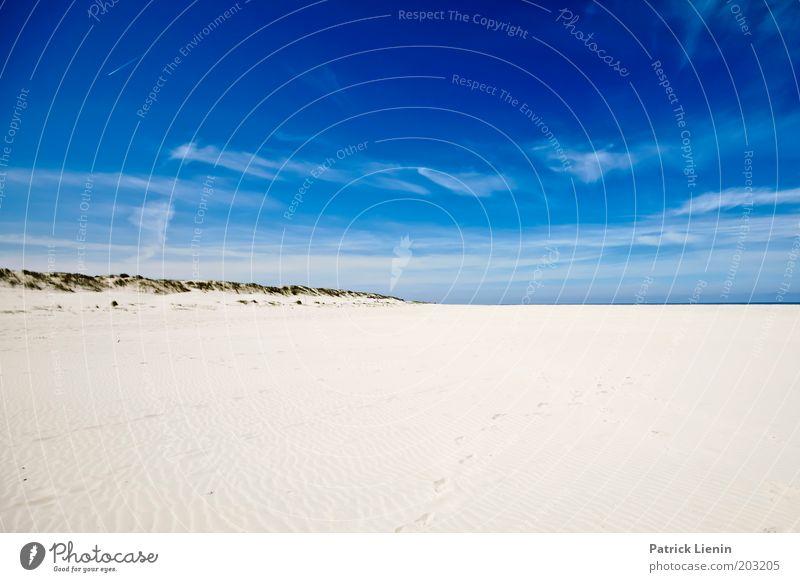 Spiekeroog im Sommer Natur Landschaft Himmel nur Himmel Wolken Schönes Wetter Wind Hügel Küste Strand Nordsee Insel entdecken Sand blau Freiheit Ferne Düne heiß