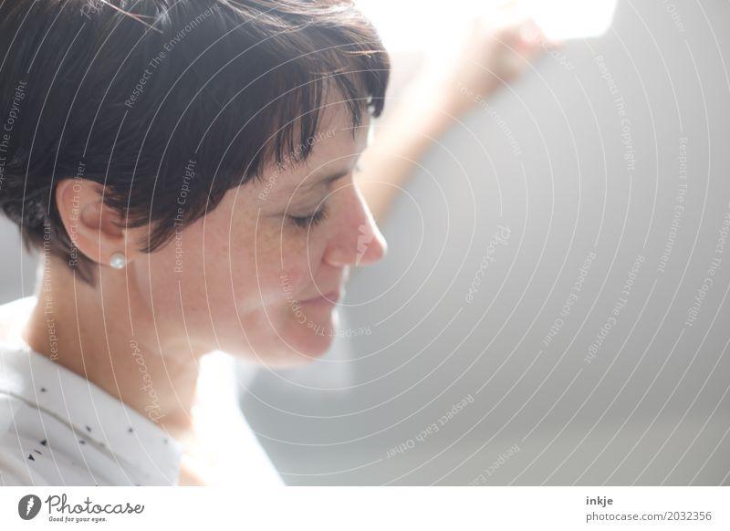 .. Mensch Frau schön Gesicht Erwachsene Leben Lifestyle Gefühle Stil Haare & Frisuren Stimmung Freizeit & Hobby Zufriedenheit modern 45-60 Jahre Lächeln