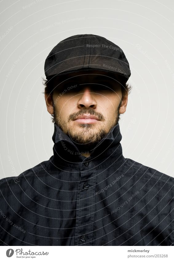 Who is it Mensch Jugendliche Kopf Erwachsene maskulin Design elegant Lifestyle ästhetisch Coolness einzigartig außergewöhnlich Bart Hut Hemd