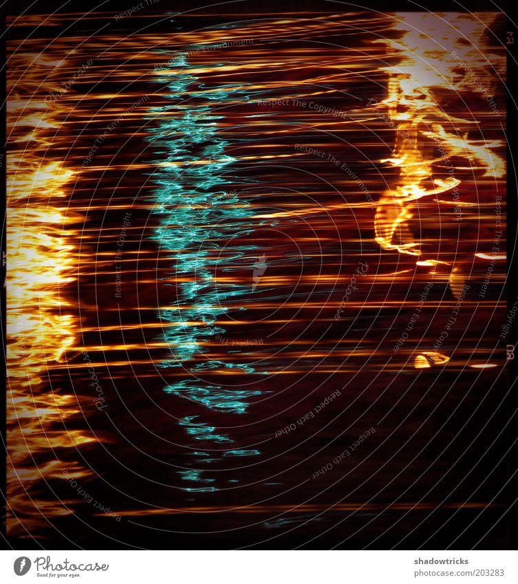 3 Sekunden Kunst Aggression retro verrückt blau gelb rot Stress Nervosität Bewegung Farbfoto mehrfarbig Experiment Nacht Kontrast Lichterscheinung