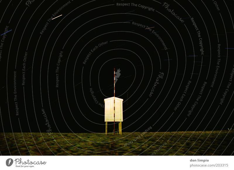 Arbeitsplatz Strand Himmel Meer ruhig Haus schwarz Stern Unendlichkeit analog Hütte Nachthimmel Atlantik Hochsitz Fuerteventura Spanien Himmelskörper & Weltall