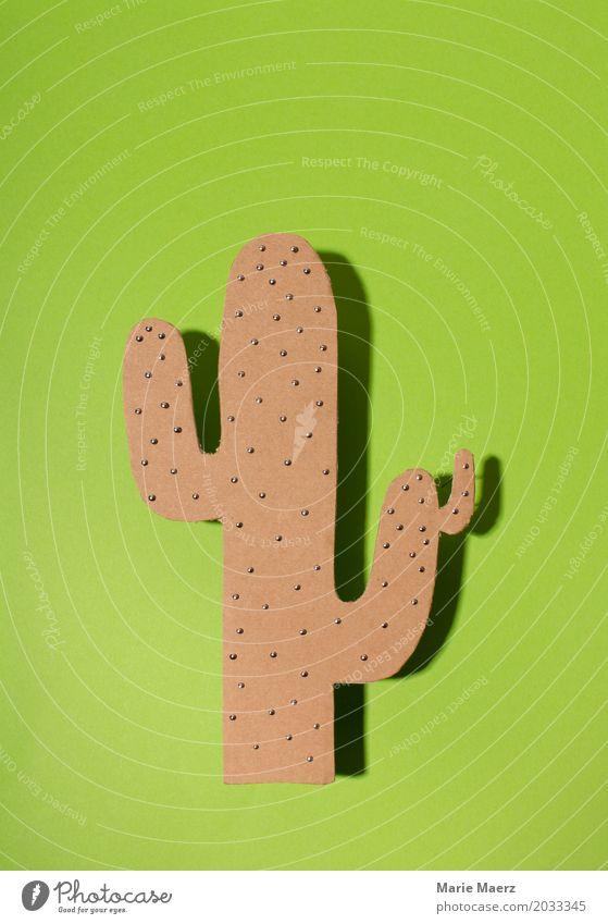 Kaktus Design exotisch Blick stehen Häusliches Leben einzigartig stachelig grün Schmerz Respekt Einsamkeit Kitsch Kunst Kaktee Stachel pieksen Spitze