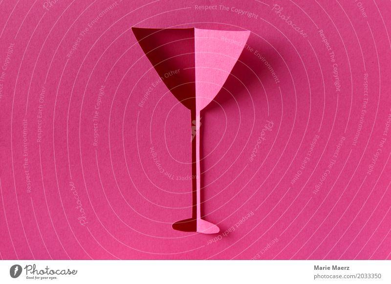 Cocktail Freude Stil Feste & Feiern rosa elegant Glas genießen einzigartig Grafik u. Illustration Getränk trinken Restaurant Silvester u. Neujahr exotisch Bar