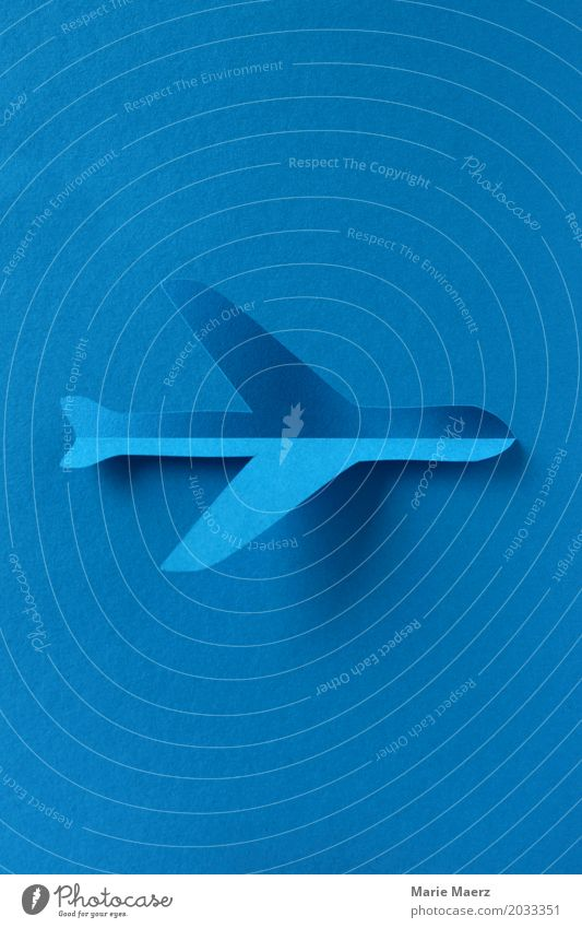 Flugzeug Schatten Reichtum Ferien & Urlaub & Reisen Ferne fliegen ästhetisch trendy einzigartig blau Glück Horizont Tourismus Luftverkehr Papierschnitt