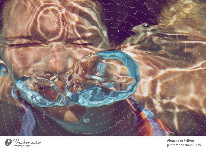 Frau unter Wasser Mensch Frau Jugendliche Wasser Ferien & Urlaub & Reisen Freude Erwachsene Auge Leben feminin Schwimmen & Baden Junge Frau 18-30 Jahre Schwimmbad tauchen Luftblase